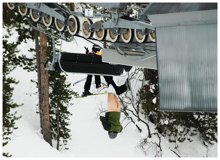 Not very naked girl on ski lift topic Willingly